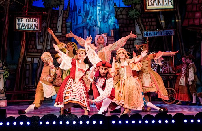 The cast of Cinderella at the Alhambra Theatre, Bradford