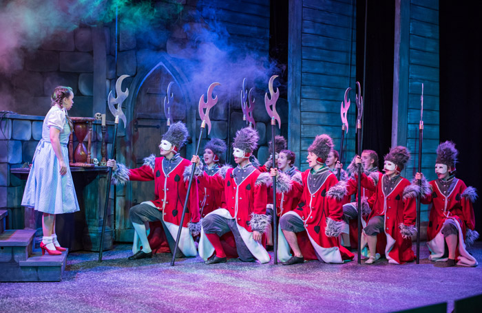 Scarlett Leigh Fawcett and the cast of The Wizard of Oz at Trinity Theatre, Tunbridge Wells
