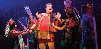 Scene from Aladdin at Swansea Grand Theatre