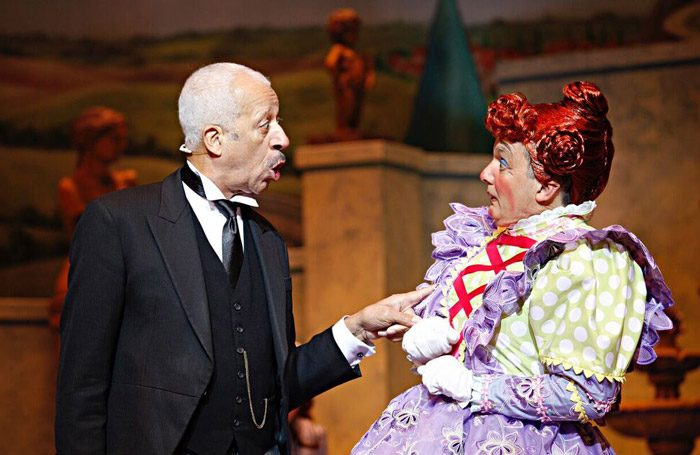 Derek Griffiths and Richard Gauntlett in Sleeping Beauty at Theatre Royal, Norwich