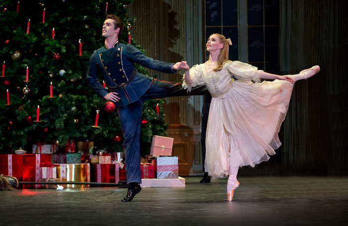 Karla Doorbar and Lachlan Monaghan in Birmingham Royal Ballet's The Nutcracker at the Royal Albert Hall, London