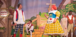 Jonny Awsum and Tim Hudson in Jack and the Beanstalk at Waddon Leisure Centre, Croydon. Photo: James Spicer