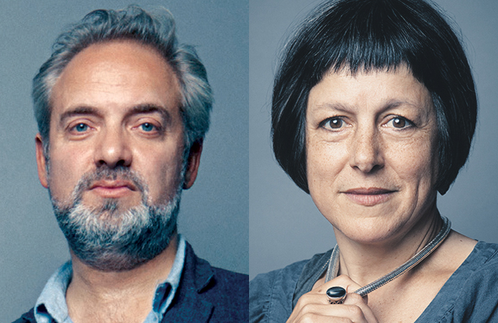 Sam Mendes and Caro Newling. Photos: Matt Holyoak