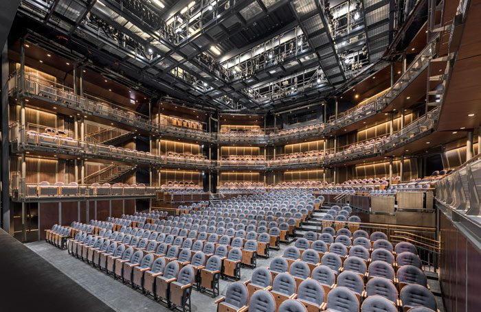 Charcoalblue's the Yard at Chicago Shakespeare Theater was constructed-using the rapid design-and-build techniques used in temporary theatre projects. Photo: James Steinkamp