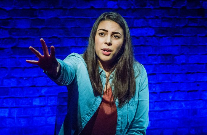 Sophie Khan Levy in Hanna at Arcola Theatre, London. Photo: Robert Workman