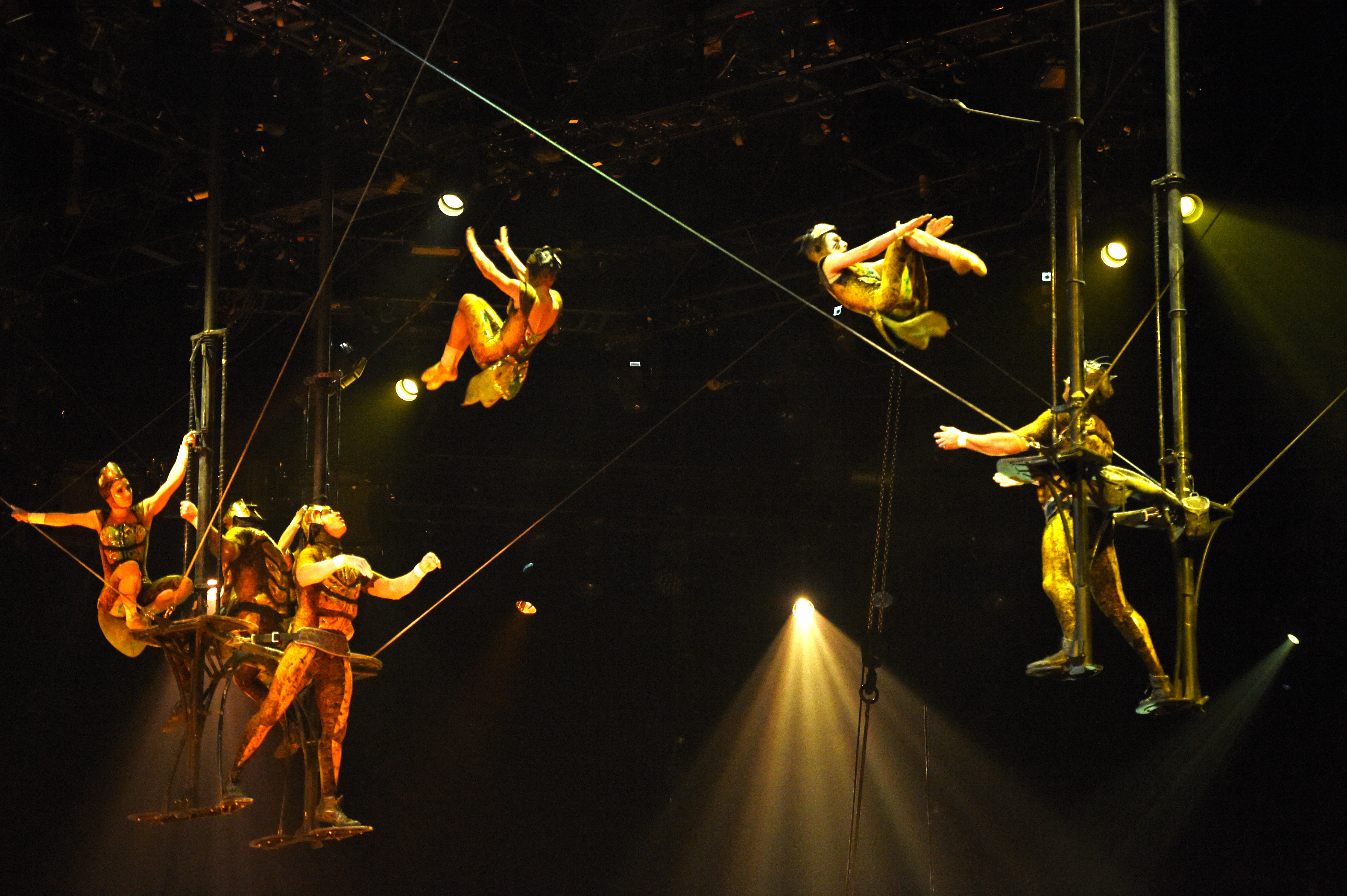cirue du soleil A young woman is entranced by an aerialist when they fall into the dreamlike world of cirque du soleil and are separated, they travel through the different tent worlds trying to find each other.