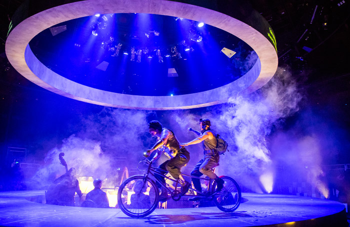Scene from The Return of Ulysses at Roundhouse, London. Photo: Tristram Kenton