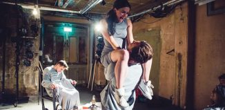 Students on the site-specific course at Mountview, at Shoreditch Town Hall