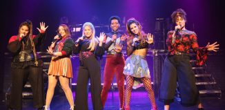 The cast of Six at Arts Theatre, London
