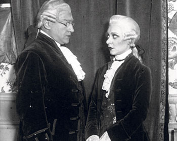 Sacha Guitry (top) performed in Mozart with his wife Yvonne Printemps