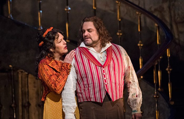 Adrianne Pieczonka and Joseph Calleja in Tosca at Royal Opera House, London. Photo: Tristram Kenton