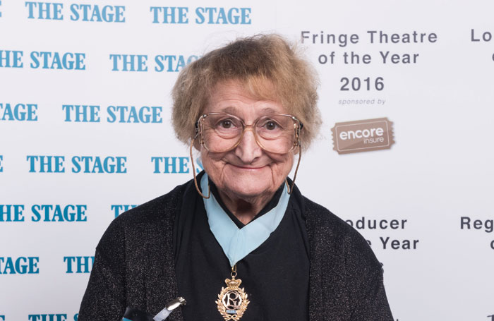 Bella Emberg at The Stage Awards 2016. Photo: Alex Brenner