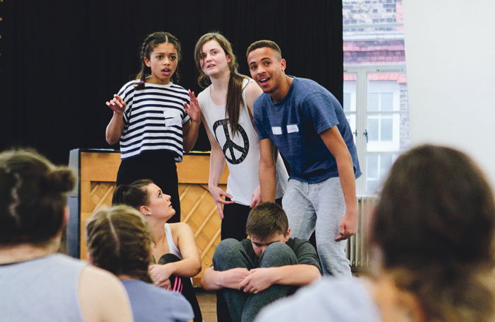 An audition at Youth Music Theatre UK. Photo: Leanne Dixon