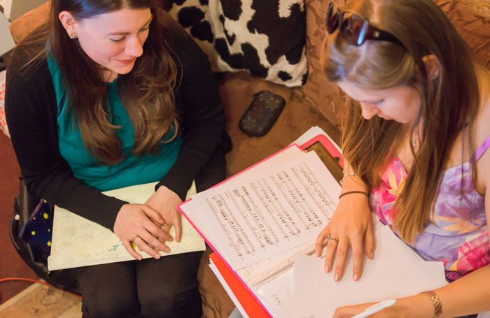 Bella Barlow and AC Smith, who are partnering with London Playwrights' Workshop to launch Women's Musical Theatre Initiative. Photo: Eulanda Shead