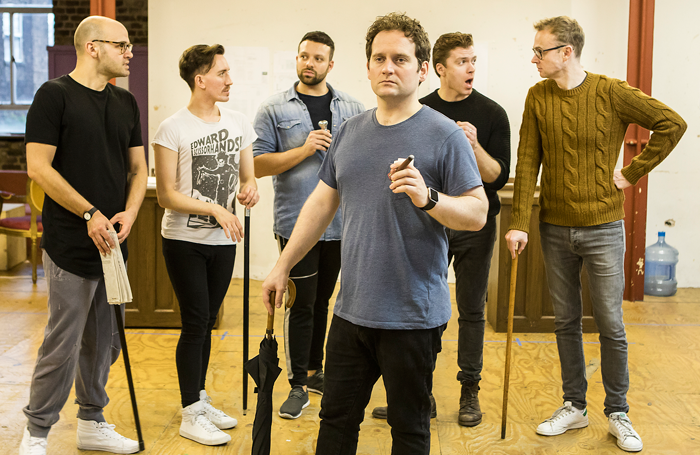 The cast of the London production of Rothschild and Sons. Photo: Pamela Raith