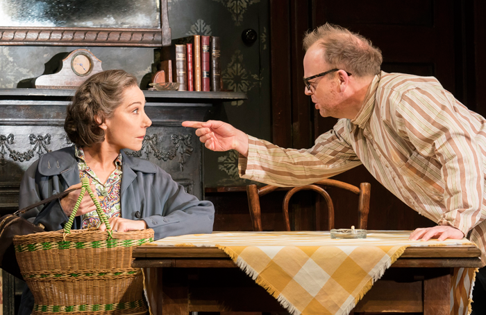 Zoe Wanamaker and Toby Jones in The Birthday Party. Photo: Johan Persson