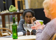 Anneika Rose and June Watson in rehearsals for John at the National Theatre. Photo: Stephen Cummiskey