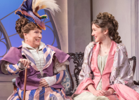 Jennifer Saunders and Grace Molony in Lady Windermere's Fan. Photo: Marc Brenner