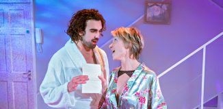 Sharif Afifi and Johanne Murdock in The ToyBoy Diaries at the Hope Mill Theatre, Manchester