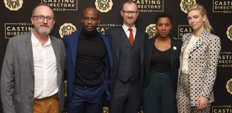 Casting director Andy Pryor and actors David Gyasi, Mark Gatiss, Jade Anouka and Vanessa Kirby at the launch of the CDG Awards