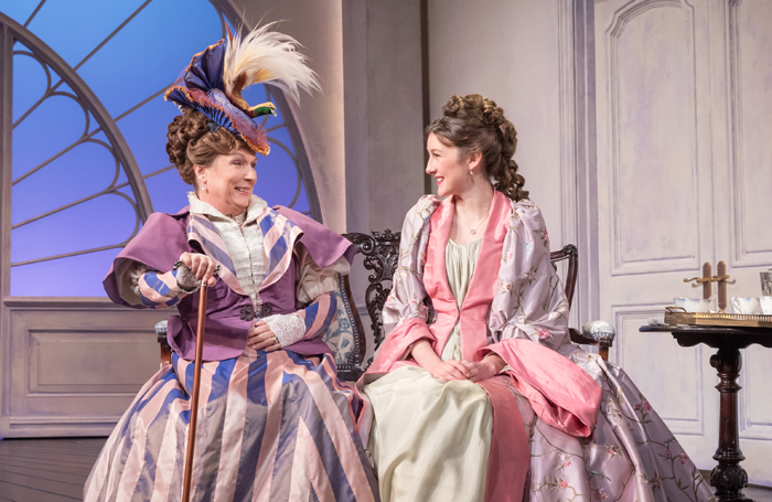 Jennifer Saunders as Duchess of Berwick and Grace Molony as Lady Windermere. Photo: Marc Brenner