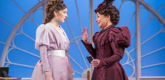 Grace Molony as Lady Windermere and Samantha Spiro as Mrs Erlynne. Photo: Marc Brenner
