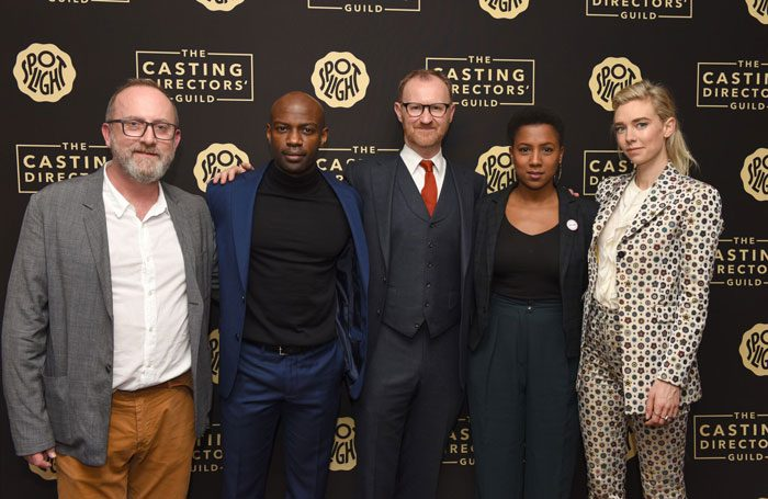 Mark Gatiss (centre) at the London launch of the Casting Directors' Guild's new awards