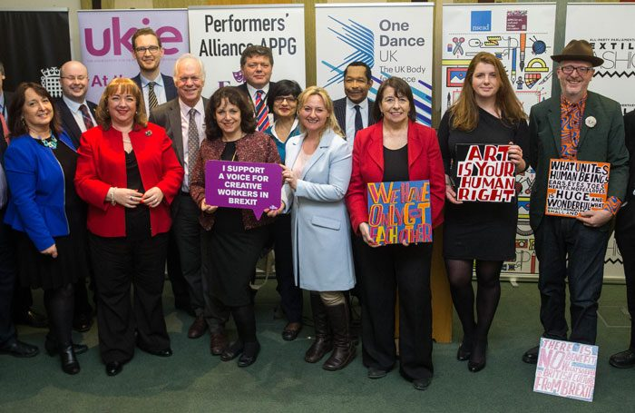 The 'Drawn Together' group of MPs is calling on the government to take account of the needs of the creative industries
