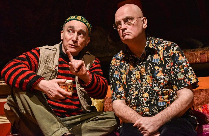 Jeremy Stockwell and Terry Johnson in Ken at the Bunker, London. Photo: Robert Day