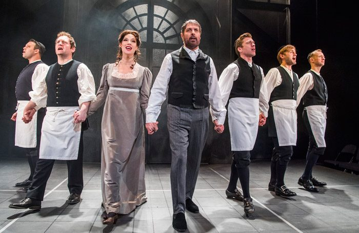 The cast of Rothschild and Sons at Park Theatre, London. Photo: Tristram Kenton