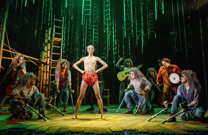 Keziah Joseph and the cast of The Jungle Book at Chichester Festival Theatre