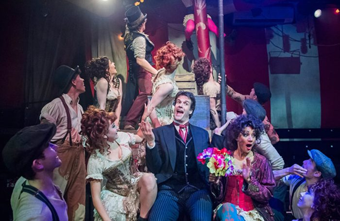 Marcus Brigstocke in Barnum at the Menier Chocolate Factory. Photo: Tristram Kenton