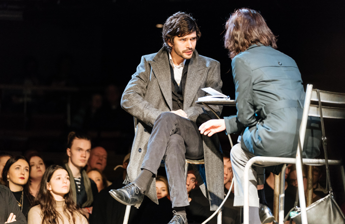 Ben Whishaw and Michelle Fairley in Julius Caesar. Photo: Manuel Harlan