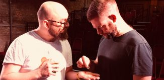 David Aula and Simon Evans in Vanishing Mankind at the Vaults, London