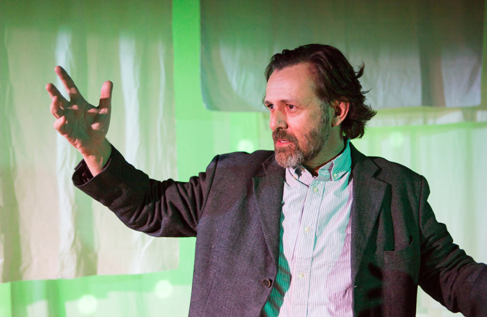 Philip Goodhew in The Ungrateful Biped at White Bear Theatre, London. Photo: Andreas Lambis