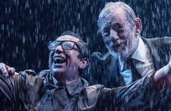 Phil Daniels and Ian   McKellen in King Lear at Chichester Festival Theatre. Photo: Manuel Harlan