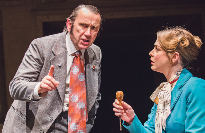 Phil Daniels and Lauren O'Neil in This House at the Garrick Theatre. Photo: Tristram Kenton