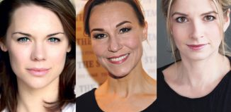 Gina Beck, Joanna Riding and Caroline Sheen are among performers supporting calls for more job shares in the West End to support working parents. Photos: Stephanie Methven (Joanna Riding), Ross Ferguson (Caroline Sheen)