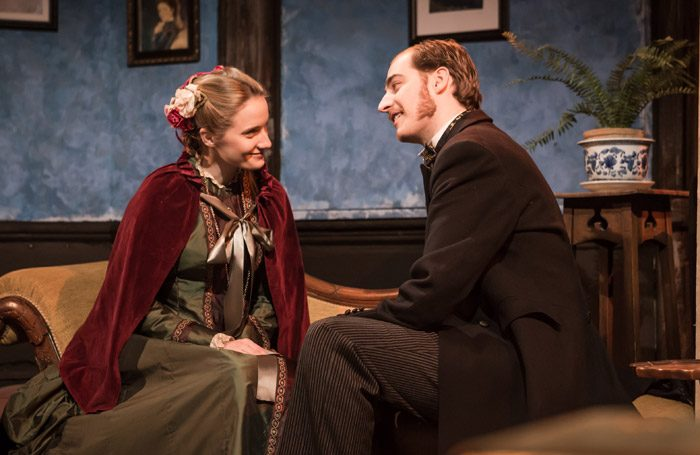 Allegra Marland and Will Kelly in Cyril's Success at Finborough Theatre, London. Photo: Scott Rylander
