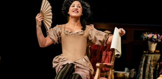 Danielle Henry in Playhouse Creatures at New Vic, Newcastle-under-Lyme. Photo: Andrew Billington