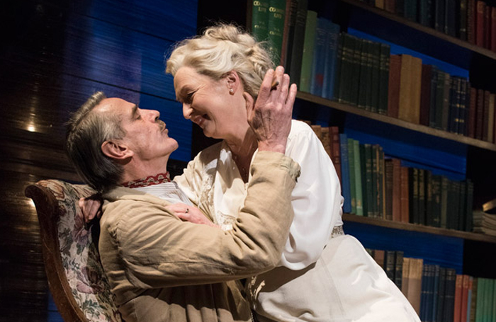 Jeremy Irons and Lesley Manville in Long Day's Journey Into Night at Wyndham's. Photo: Hugo-Glendinning