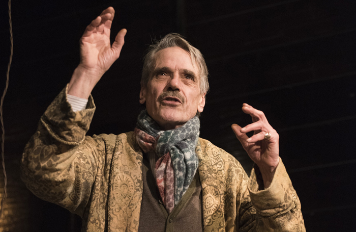 Jeremy Irons in Long Days Journey Into Night at Wyndham's. Photo: Hugo Glendinning