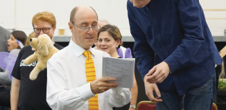 Cal McCrystal in rehearsals for the ENO's Iolanthe
