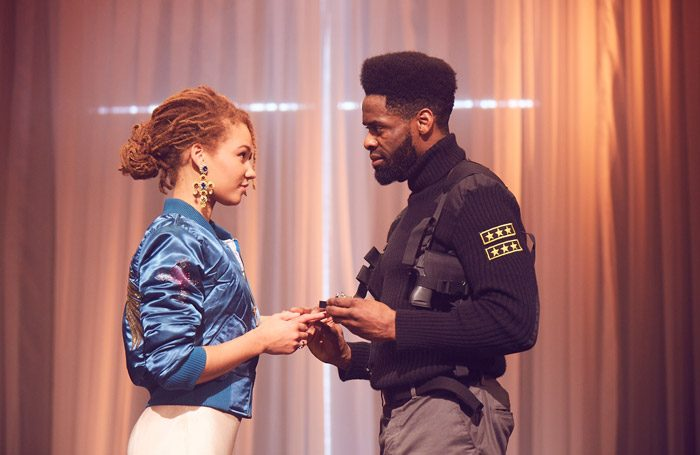 Ayoola Smart and Okorie Chukwu in Othello at Unicorn Theatre, London. Photo: Graham Michael
