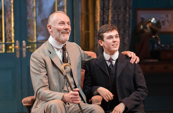 Aden Gillett and Misha Butler in The Winslow Boy at Chichester Festival Theatre. Photo: Alastair Muir