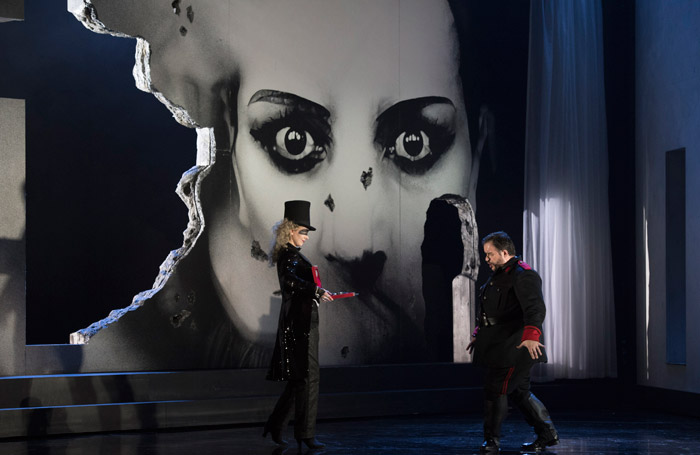 Luis Cansino and Justina Gringyte in Welsh National Opera's La Forza del Destino Photo: Richard Hubert Smith