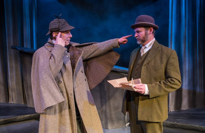 James Tucker and Darrell Brockis in The Hound of the Baskervilles at Mill at Sonning. Photo: Andreas Lambis