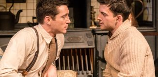 Ben Batt and Jonathan Bailey in The York Realist at the Donmar Warehouse, London. Photo: Johan Persson