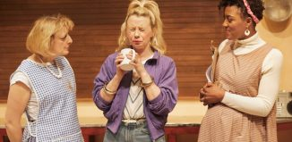 Judy Flynn, Samantha Power and Simone Saunders in Chicken Soup at Crucible Studio, Sheffield. Photo: Mark Douet