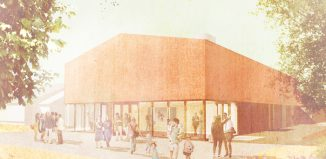 An artists impression of the new Moreton Hall theatre. Image: Tim Ronalds Architects
